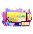financial data management concept vector image vector image