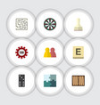flat icon entertainment set of mahjong poker vector image vector image
