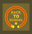 flat shading style icon back to school pencil vector image vector image