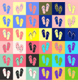 flip-flop set vector image vector image