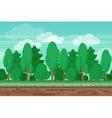 Game seamless summer landscape forest background vector image