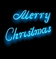 greeting the words of merry christmas neon light vector image vector image