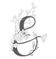 hand drawn floral ampersand monogram vector image vector image