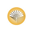 hand fan icon chinese paper souvenir or accessory vector image