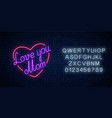 happy mothers day neon glowing festive sign with vector image
