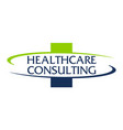healthcare consulting logo design template vector image vector image