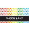 Heart pattern set tropical sunset seamless vector image