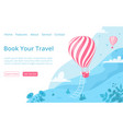 hot air balloon website booking page template vector image vector image