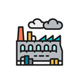 industrial factory plant flat color icon vector image