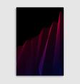 linear minimal trendy brochure design cover vector image