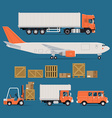 Logistics Transport Icon Set vector image