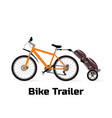logo bike trailer vector image