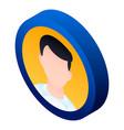 man avatar icon isometric style vector image