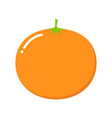 mandarin isolated on white cartoon style cute vector image vector image