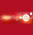 merry christmas bokeh banner vector image vector image