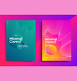 minimal cover design with halftone gradient shapes vector image vector image