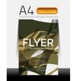Modern Flyer Design vector image