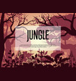 morning tropical jungle background vector image vector image