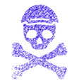 mortal skull icon grunge watermark vector image
