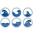 ocean wave icon vector image vector image