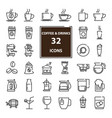 outline web mono symbol icon set drink vector image vector image