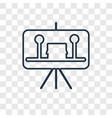 painting concept linear icon isolated on vector image