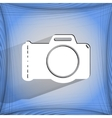 Photo camera Flat modern web button on a flat vector image