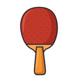 ping pong racket sport icon vector image vector image