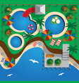 plan water park on beach vector image vector image