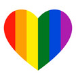 rainbow heart icon lgbt flag symbol vector image