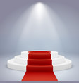 realistic podium pedestal award winner ceremony vector image vector image