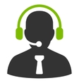 Reception operator icon from Business Bicolor Set vector image vector image