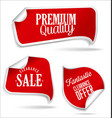 red tags collection vector image vector image