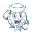 Sailor volley ball character cartoon vector image