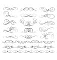 set calligraphic lines vector image
