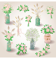 set of bouquets vector image vector image