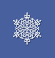 snowflake icon with shadow snowflake icon in the vector image vector image