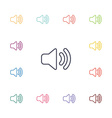 sound flat icons set vector image vector image