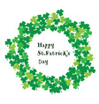 st patrick frame vector image vector image