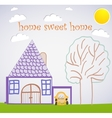 sweet home card vector image vector image