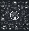 tea time set vector image vector image