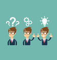 thinking businessman solving a problem vector image vector image
