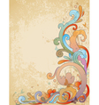 vimtage swirl floral vector image vector image