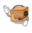 with headphone caramel candies mascot cartoon vector image vector image