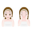 woman massage and scrub face vector image