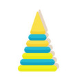 children s pyramid first toy for baby play vector image