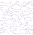 pattern with the image of silhouettes of vector image