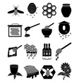 Honey Bees icons set vector image