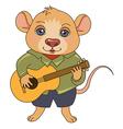 cartoon mouse musician vector image