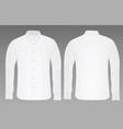white shirt long sleeve vector image